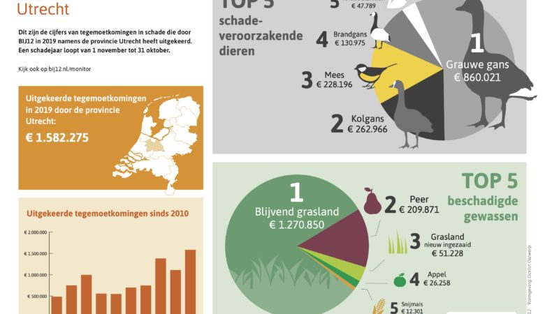 Faunaschade-cijfers 2019